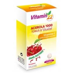 Витамин'22 Ацерола 1000 / Vitamin'22 Acerola 1000, 24 жевательных таблетки